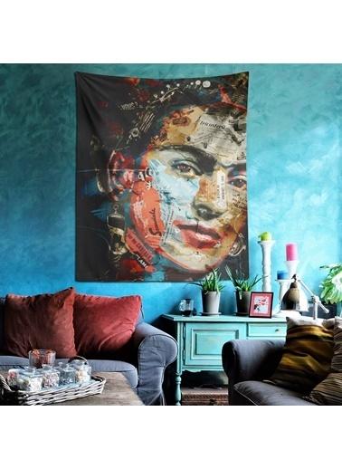Eponj Home Tapestry Duvar Örtüsü 120x145 cm Portre Mix Renkli